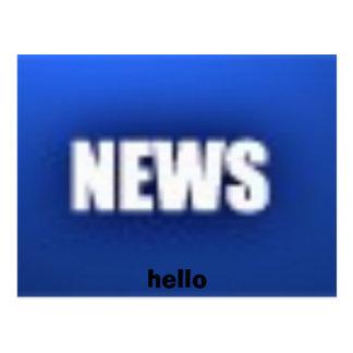 ニュース、こんにちは ポストカード
