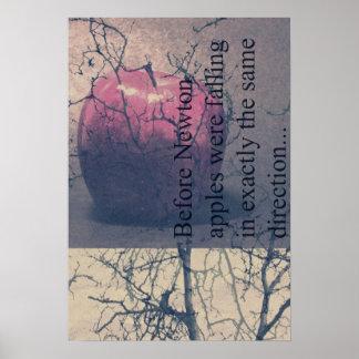 ニュートンおよびりんごポスター ポスター