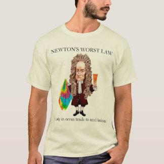 ニュートンで最も悪い法律 Tシャツ