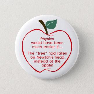 ニュートンのりんご 5.7CM 丸型バッジ