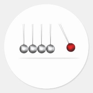 ニュートンの揺りかごの銀の球の概念 ラウンドシール