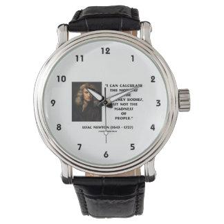 ニュートンは人々の引用文の動きの狂気を計算します 腕時計
