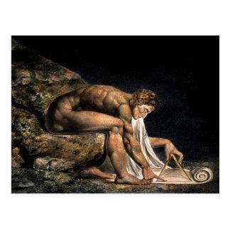ニュートンウィリアムブレイクのフリーメーソンの絵画 ポストカード