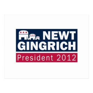 ニュート・ギングリッチの大統領2012共和党員象 ポストカード