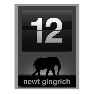 ニュート・ギングリッチ2012年 ポストカード