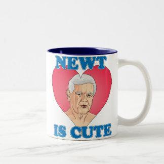 ニュート・ギングリッチ2012年- Newtはかわいいです ツートーンマグカップ