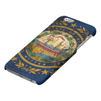 ニューハンプシャーのグランジな旗 マットiPhone 6ケース