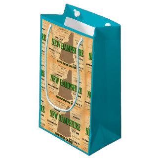 ニューハンプシャーのヴィンテージの地図 スモールペーパーバッグ