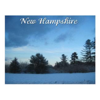ニューハンプシャーの冬 ポストカード