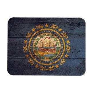 ニューハンプシャーの古い木製の旗; マグネット