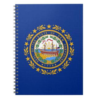 ニューハンプシャーの国家の旗が付いているノート ノートブック