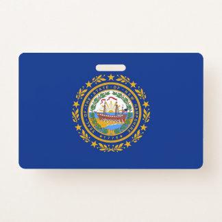 ニューハンプシャーの国家、米国の旗が付いている名前入りの記章 バッジ
