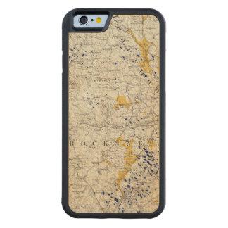 ニューハンプシャーの地勢および氷地図 CarvedメープルiPhone 6バンパーケース