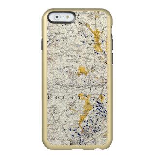ニューハンプシャーの地勢および氷地図 INCIPIO FEATHER SHINE iPhone 6ケース