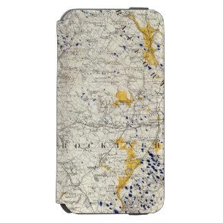 ニューハンプシャーの地勢および氷地図 iPhone 6/6Sウォレットケース