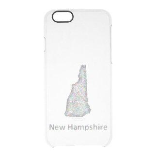 ニューハンプシャーの地図 クリアiPhone 6/6Sケース
