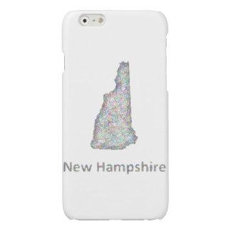 ニューハンプシャーの地図 光沢iPhone 6ケース