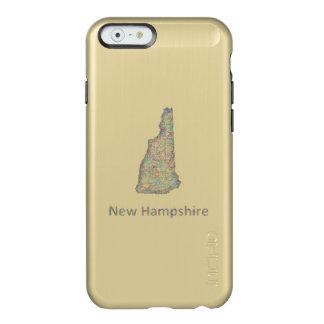 ニューハンプシャーの地図 INCIPIO FEATHER SHINE iPhone 6ケース