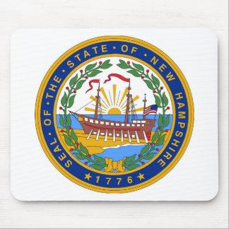 ニューハンプシャーの州のシールおよびモットー マウスパッド