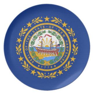 ニューハンプシャーの州の旗のプレート プレート