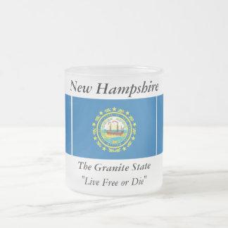 ニューハンプシャーの州の旗 フロストグラスマグカップ