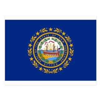 ニューハンプシャーの旗 ポストカード