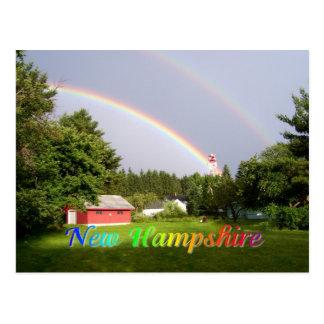 ニューハンプシャーの虹 はがき