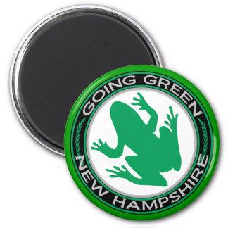 ニューハンプシャーの行く緑のカエル マグネット