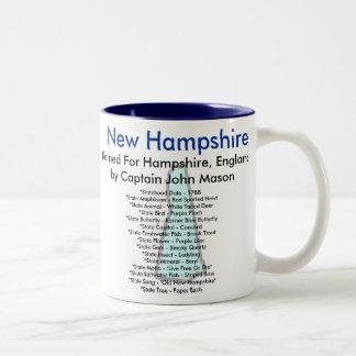 ニューハンプシャーの記号及び地図 ツートーンマグカップ