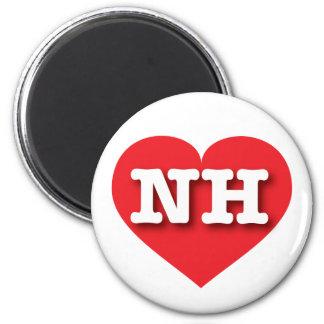 ニューハンプシャーの赤いハート-大きい愛 マグネット