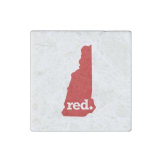 ニューハンプシャーの赤い州 ストーンマグネット