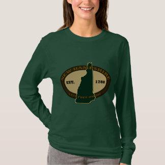 ニューハンプシャー米国東部標準時刻1788年 Tシャツ