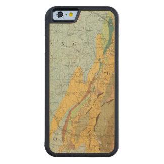 ニューハンプシャー2の地質地図 CarvedメープルiPhone 6バンパーケース