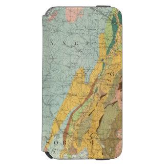 ニューハンプシャー2の地質地図 iPhone 6/6Sウォレットケース