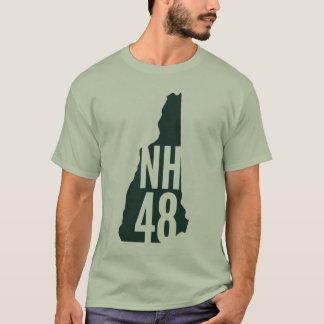 ニューハンプシャー4000のフッターのリストのTシャツ Tシャツ