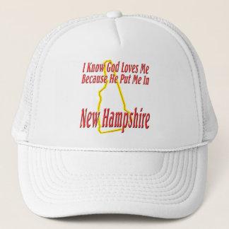 ニューハンプシャー-神は私を愛します キャップ