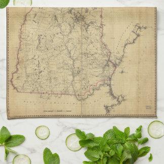 ニューハンプシャー(1784年)の地形図の地域 キッチンタオル