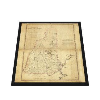 ニューハンプシャー(1784年)の地形図の地域 キャンバスプリント