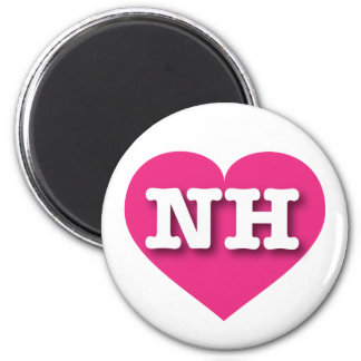 ニューハンプシャーNHのショッキングピンクのハート マグネット