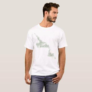 ニューファウンドランドおよびラブラドールの地図のワイシャツ Tシャツ