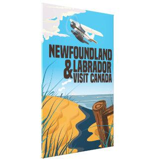 ニューファウンドランドおよびラブラドール旅行ポスター キャンバスプリント