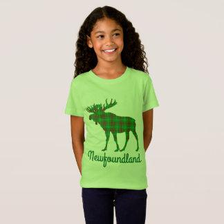 ニューファウンドランドのアメリカヘラジカのカスタマイズ可能なワイシャツ Tシャツ