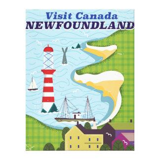 ニューファウンドランドのカナダのヴィンテージ旅行ポスター キャンバスプリント