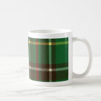 ニューファウンドランドのタータンチェックのマグ コーヒーマグカップ