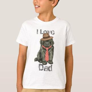 ニューファウンドランドのパパ Tシャツ