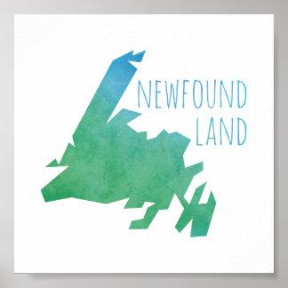 ニューファウンドランドの地図 ポスター