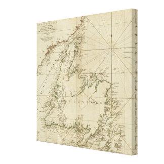 ニューファウンドランドの島の概要の図表 キャンバスプリント