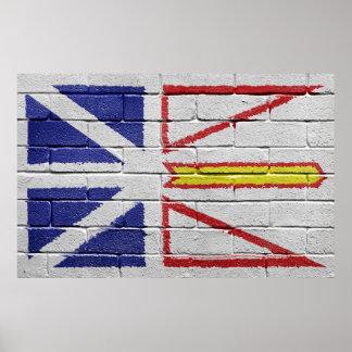 ニューファウンドランドの旗 ポスター
