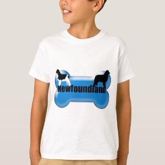 ニューファウンドランドの犬用の骨 Tシャツ