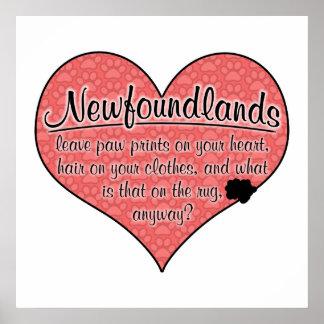 ニューファウンドランドの足は犬のユーモアを印刷します ポスター